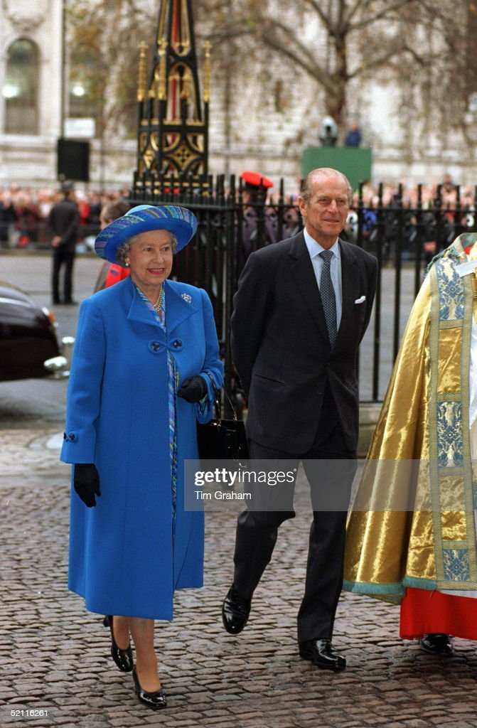 The Queen Prince Philip At A Thanksgiving Service At Westminster Abbey London To Mark Their Golden Wedding Anniversary 50 Years Of Marriage
