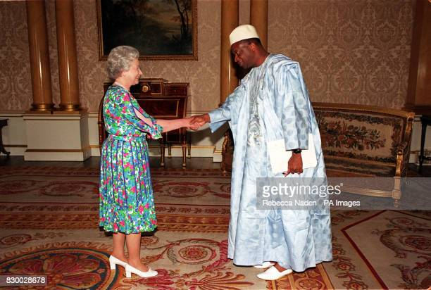 The Queen receives His Excellency the Ambassador of Guinea Monsieur Ibrahima Sylla at Buckingham Palace today Rota picture by Rebecca Naden/PA
