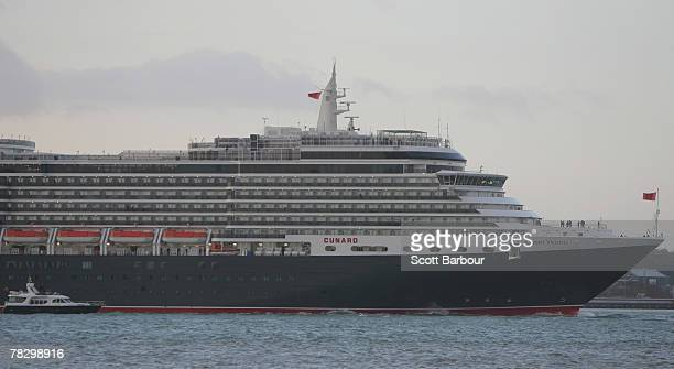 The MS Queen Victoria cruise liner arrives in Southampton on December 7 2007 in Southampton England The new 90000 ton vessel is Cunard Line's newest...