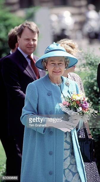 The Queen Walking With Her Private Secretary Sir Robin Janvrin