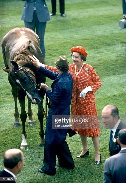 The Queen With Her Winning Horse Called Expansive At Ascot Which She Attended 1922 June 1979