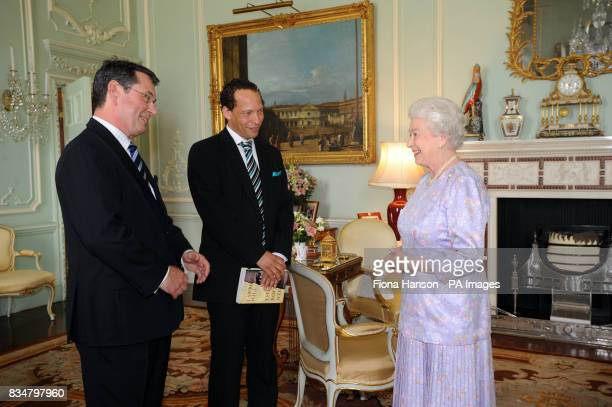 The Queen with Lawrence Hill the winner of the writers award for his book 'The Book of Negroes'