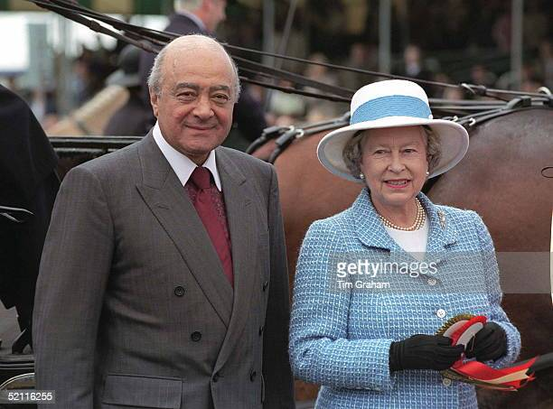 The Queen With Mohammed Al Fayed Owner Of Harrods The Sponsors Of The Royal Windsor Horse Show