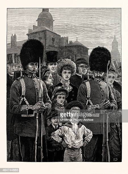 The Queen's Birthday A Sketch On The Horse Guards Parade UK 1883