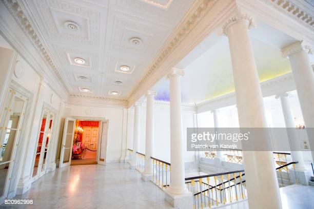 The Queen's stairs room in Palace Noordeinde on July 22 2017 in The Hague Netherlands Palace Noordeinde is the office of King WillemAlexander and...