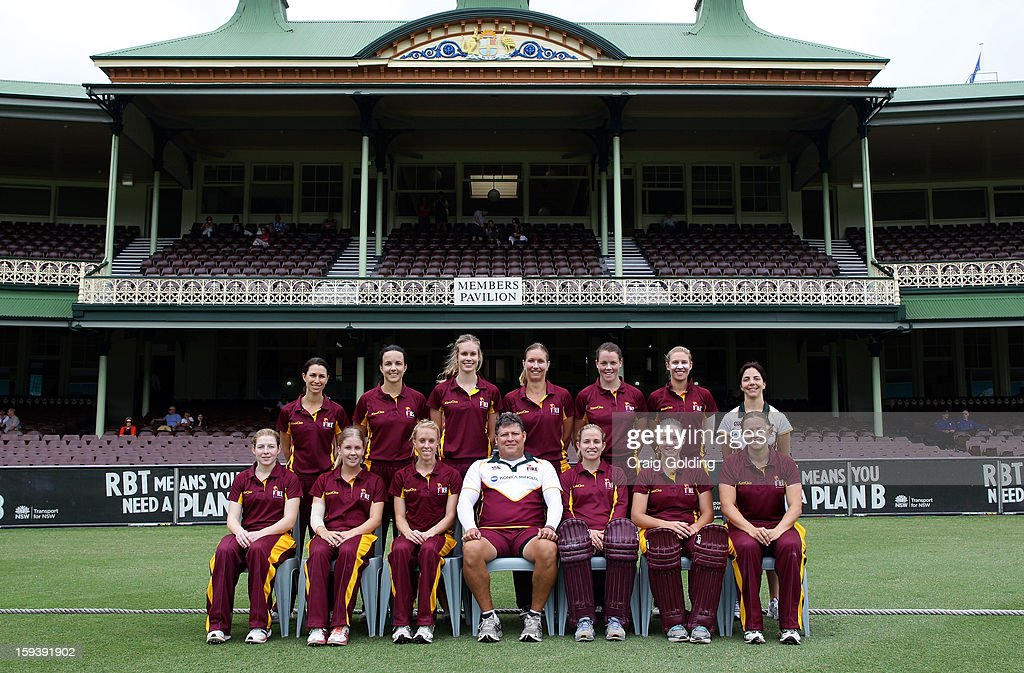 The Queensland Fire pose for a team photo in front of the SCG members stand before the start of play at the WNCL Final match between the NSW Breakers and the Queensland Fire at the Sydney Cricket Ground on January 13, 2013 in Sydney, Australia.