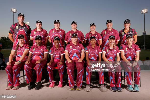 The Queensland Womens team pose for photo on February 8 2017 in Alice Springs Australia