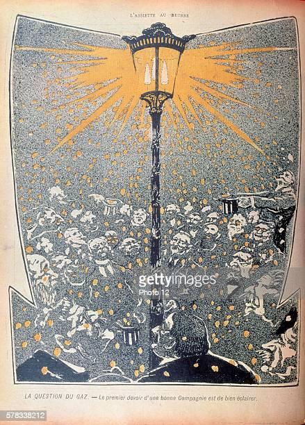 The Question of gas in France Illustration from the magazine 'L'Assiette au beurre' no55 April 19 1902 Paris Bibliotheque Nationale de France
