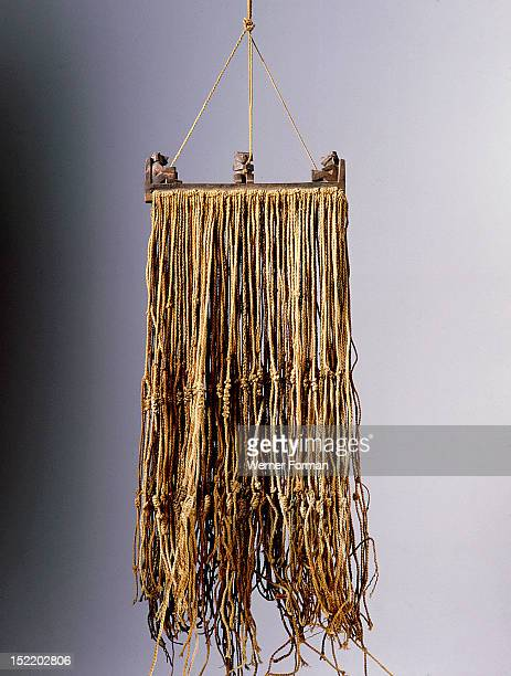 The quipu was a series of knotted strings by which the Inca kept their administrative records though a more esoteric function cannot be ruled out...
