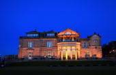 The RA clubhouse at night after the first round of The Alfred Dunhill Links Championship at The Old Course on October 7 2010 in St Andrews Scotland