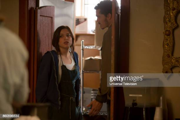 GYPSY 'The Rabbit Hole' Episode 101 Pictured Sophie Cookson as Sidney Pierce Karl Glusman as Sam Duffy