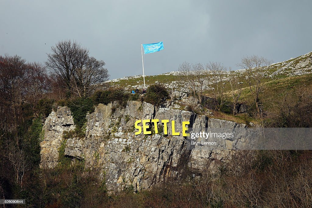 The race finished in Settle on stage one of the 2016 Tour de Yorkshire from Beverley to Settle on April 29, 2016 in Settle, England.