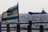 The Rachel Corrie aid ship enters the military port of Ashdod in southern Israel after it was intercepted by the Israeli Navy on June 5 in Ashdod...
