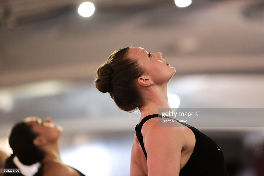 The Radio City Rockettes are seen rehearsing for their upcoming production of 'New York Spectacular' at St. Paul The Apostle Church on May 4, 2016 in New York City.