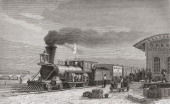 The Railway Station At Omaha Nebraska America Starting Point Of The Pacific Railroad As It Was In 1867 From El Mundo En La Mano Published 1878