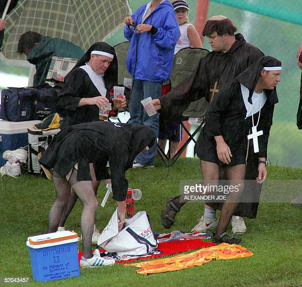 The rain did not stop England supporters from having fun at the at the first match of the fifth and final Test between England and South Africa in...