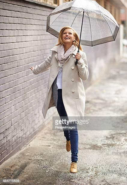Regen, fühle ich mich frei!