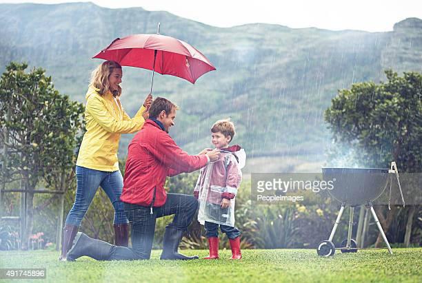 Auch der Regen nicht aufhalten Sie aus Spaß