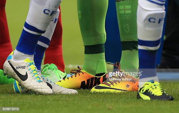 The rainbow laces on the boots of David Stockdale of Fulham
