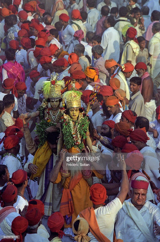 The Ramlila is a dramatic folk reenactment of the tenday battle between Lord Ram and Ravan as described in the Ramayan Over several days Benares is...