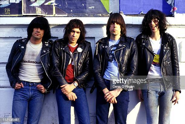 The Ramones at Paradiso in Amsterdam 1978 They are Dee Dee Ramone Marky Ramone Johnny Ramone and Joey Ramone
