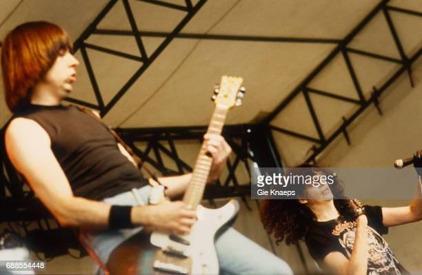 The Ramones Joey Ramone Johnny Ramone Pukkelpop Festival Sanicole Airfield Hechtel Belgium