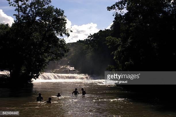 The rapids at Agua Azul in Chiapas