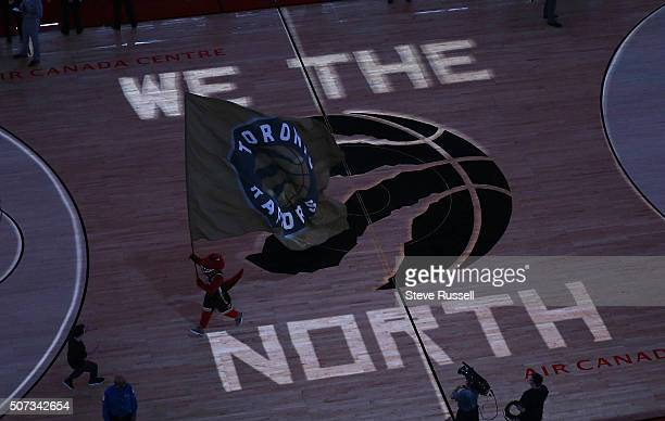 The Raptor leaves the court as the Toronto Raptors beat the New York Knicks 10393 to set a new franchise record with their tenth win in a row at the...