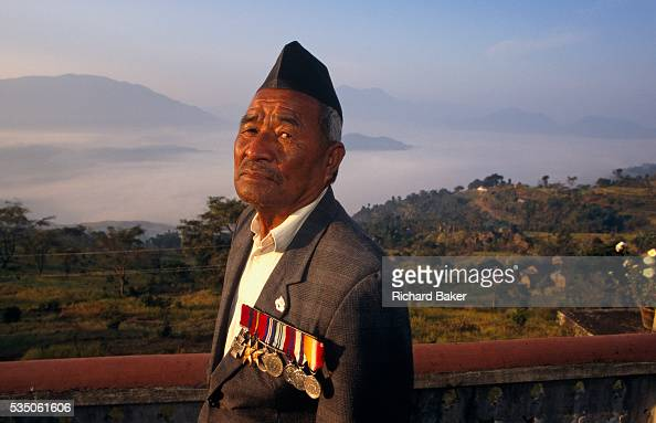 The rare Victoria Cross is worn on the chest of the celebrated Nepali war veteran Bhanu Bhagta Gurung an exsoldier of the British Gurkha regiment who...