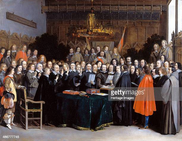 The Ratification of the Treaty of Münster 15 May 1648 1648 Artist Ter Borch Gerard the Younger