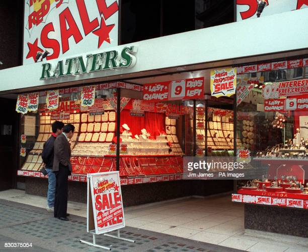 The Ratners Jewellery store in Regent Street London part of the chain owned by Gerald Ratner which made a 112 million profit in 1990