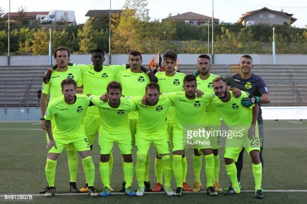 The Ravenna FC team line up for a photo before the Lega Pro 17/18 group B match between Teramo Calcio 1913 and Ravenna FC at Gaetano Bonolis stadium...