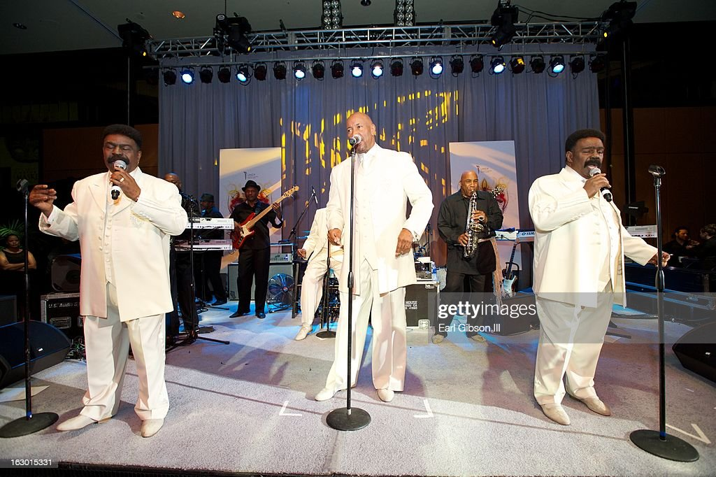 The R&B groupThe Whispers perform at the UNCF Mayor's Masked Ball Hosted By Mayor Antonio Villaraigosa at Hilton Universal City on March 2, 2013 in Universal City, California.