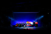 The RB11 featuring the 2016 livery is unveiled during the launch event for PUMA and Red Bull Racing's 2016 Livery and Teamwear at Old Truman Brewery...