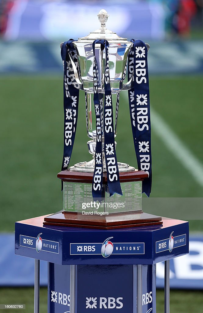 The RBS Six Nations trophy during the RBS Six Nations match between Italy and France at Stadio Olimpico on February 3, 2013 in Rome, Italy.