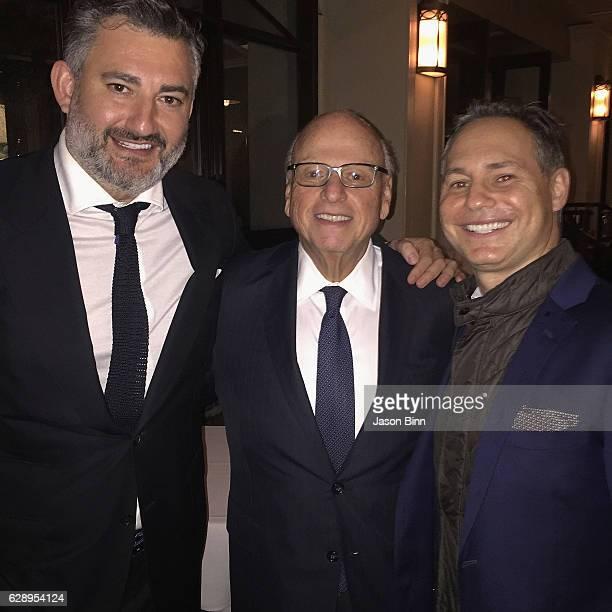 The Real Deal Publisher Amir Korangy Douglas Elliman Chairman Howard Lorber Jason Binn circa October 2016 in New York City