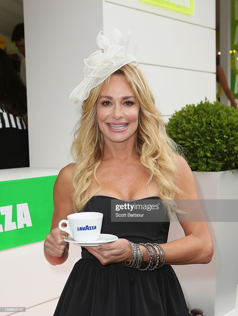 "The Real Housewives of Beverly Hills"" star Taylor Armstrong arrives at the Lavazza marquee at the Melbourne Cup at Flemington Racecourse on November 6, 2012 in Melbourne, Australia."