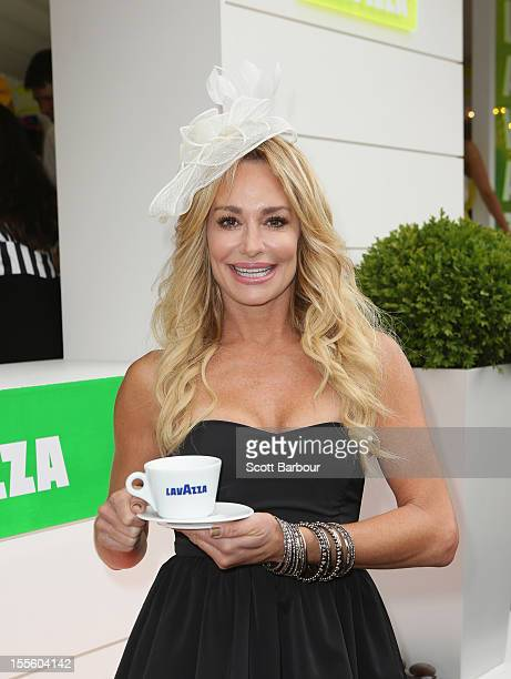 "The Real Housewives of Beverly Hills"" star Taylor Armstrong arrives at the Lavazza marquee at the Melbourne Cup at Flemington Racecourse on November..."