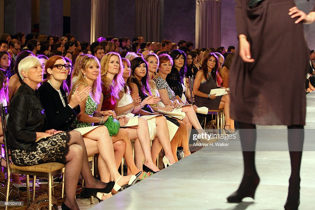 The Real Housewives of New York and New Jersey attend Bravo's 'The Fashion Show' Finale at Cipriani Wall Street on June 26 2009 in New York City