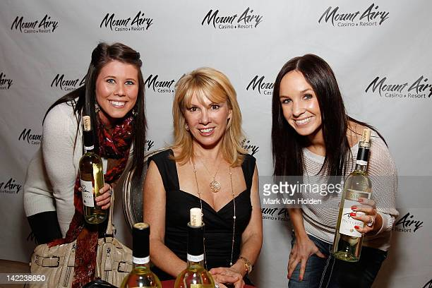 The Real Housewives Of New York's Ramona Singer poses with fans at Mount Airy Casino Resort during a special tasting of Ramona's Pinot Grigio on...