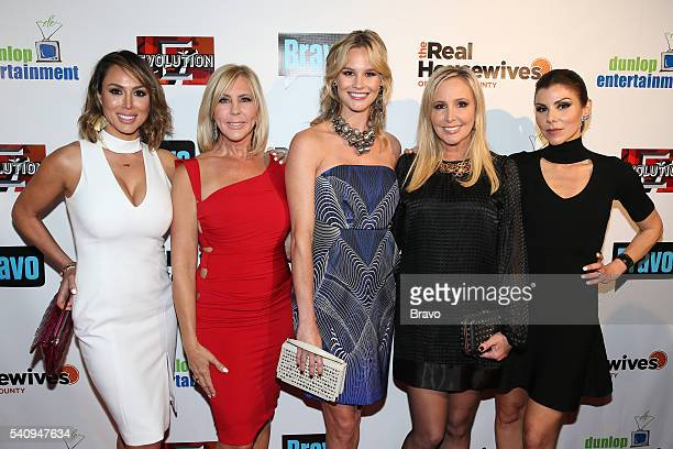 COUNTY 'The Real Housewives of Orange County' Season 11 Premiere Party in Los Angeles on June 16 2016 Pictured Kelly Dodd Vicki Gunvalson Meghan King...
