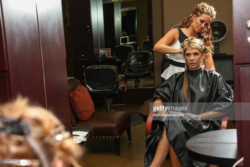 'The Real Housewives Of Orange County' star <a gi-track='captionPersonalityLinkClicked' href=/galleries/search?phrase=Alexis+Bellino&family=editorial&specificpeople=6544408 ng-click='$event.stopPropagation()'>Alexis Bellino</a> visits a hair salon on July 22, 2013 in Anaheim, California.