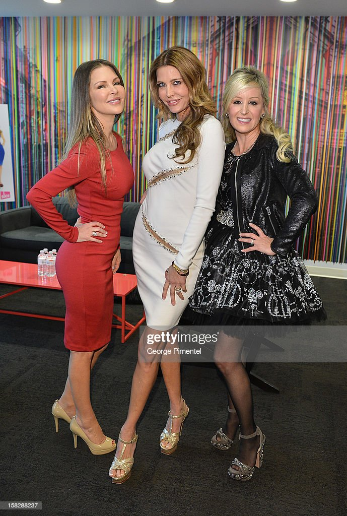 The Real Housewives of Vancouver Mary Zilba, Ronnie Negus and Jody Claman,attend the Shaw Media Press Conference held at the Shaw Media Building on December 12, 2012 in Toronto, Canada.