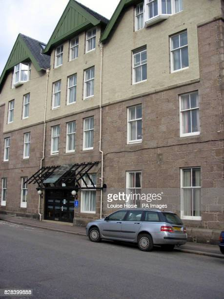 The rear of Clashfarquhar House in Stonehaven Aberdeenshire Sunday March 19 where a dozen elderly residents have been trapped indoors on its upper...