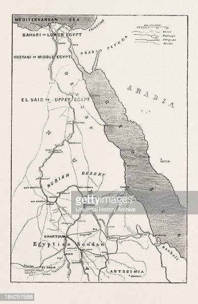 The Rebellion In The Soudan Sudan Map Showing Upper Egypt And - Map of upper egypt
