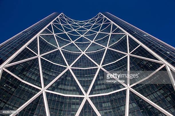 The recently completed Bow Tower headquarters to Encana Corporation North America's second largest natural gas producer rises from the center of...