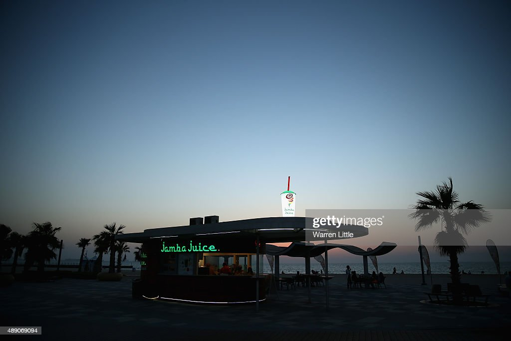 The recently refurbished Kite Beach is pictured on September 14, 2015 in Dubai, United Arab Emirates. The Beach is very popular with Dubai locals, with a variety of water sports and refreshments on offer.