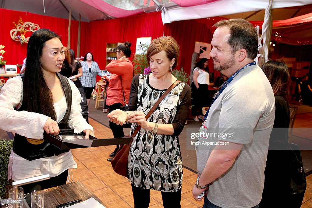 The Recording Academy Chief Financial Officer Wayne Zahner attends the GRAMMY Gift Lounge during the 56th Grammy Awards at Staples Center on January...