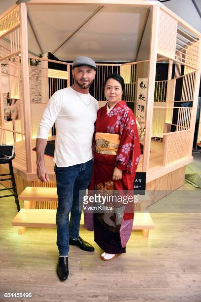 The Recording Academy Chief Human Resources Officer Gaetano Frizzi and Hiromi Tsuchihashi attend GRAMMY Gift Lounge during the 59th GRAMMY Awards at...