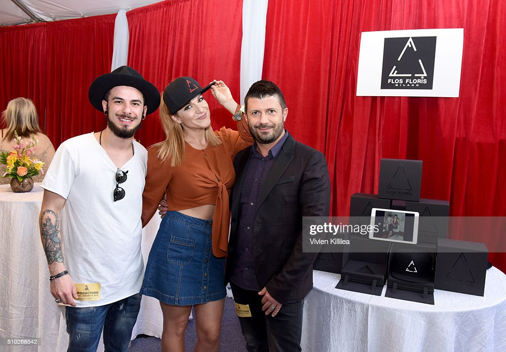 The Recording Academy's Marketing & Communications VP Neda Azarfar (C) attends the GRAMMY Gift Lounge during The 58th GRAMMY Awards at Staples Center on February 14, 2016 in Los Angeles, California.